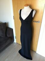 Ladies MISS SELFRIDGE Dress Size 10 12 Black Long Maxi Stretch Party Evening