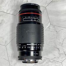 Sigma Auto Focus 75-300 Mm Lens Nikon