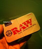 "New! RAW Rolling Papers PreRolled Cigarette Metal storage tin case 4.5""x2.5""x1"""