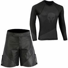 Verus No Gi Wear Mma Rash Guards & Shorts Set Bjj Grappling Fight Training Ufc