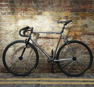 Aphelion Cycles 1962 - Sleek Chrome - Single Speed, Fixie, Fixed Gear Bike 54-56