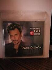 JOHNNY HALLYDAY  CD digipack Partie de cartes Scellé