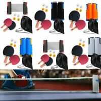 Ping Pong Tennis Da Tavolo Set: Rete a Scomparsa + 2 Racchette  + 4 Palline