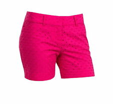 The Limited Womens Size 12 Tailored 5'' Inseam Shorts, Hot Pink Eyelet