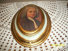 8.5� Reuge Bach Oval Gold Music Box Pull String Gavotte As Found