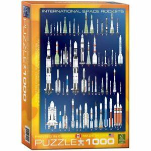 Eurographics Puzzle 1000 Piece Jigsaw International Space Rockets  EG60001015