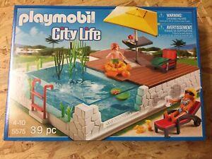 PLAYMOBIL City Life Einbau-Swimmingpool (5575) wie Neu!