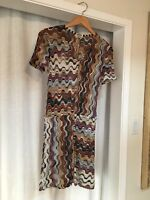 VINTAGE 1990s Missoni Dress - V Neck - Women's Sz Small Multicolored - Nord