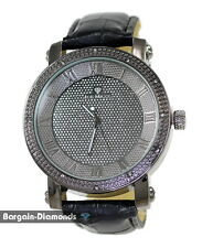 gunmetal black diamond mens watch ice out bling dial maxx business