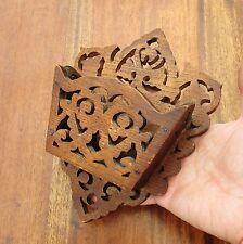 Antique Oak Arts & Crafts Wooden Wall Plaque - Bits & Bobs Holder - Circa 1900
