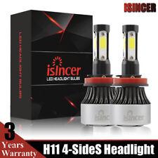2x H11 4-Sides LED Headlight CREE H8 H9 1700W 255000LM Beam Bulbs Fog lights USA