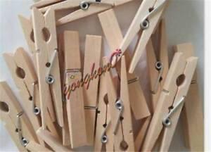 50PCs Mini Natural Wooden Clothe Photo Paper Peg Clothespin Craft Clips 35mm