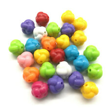30pcs Knot Acrylic Charms Loose Beads Kid Jewelry DIY Accessories 12mm
