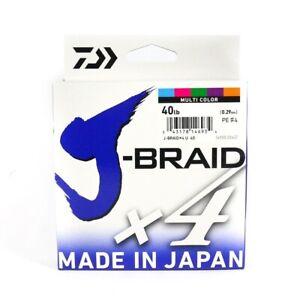 Daiwa J Braid x4 500m Multi Colour Braided Fishing Line