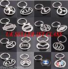 3D Chromed Car Logos Titanium Key Chain Car Keychain Ring Keyfob Metal Keyrings