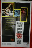 1 Vintage One Sheet Movie Poster for Term of Trial, 1962, Laurence Olivier