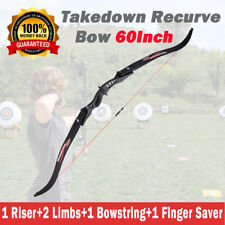 """60"""" Takedown Recurve Bow Archery Right Left Hand 20lbs Hunting Shooting Practise"""