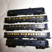 Arnold 0319 N Set 5x CIWL Pullmanwagen Orient Express Epoche 2/6 selten KK + NEM