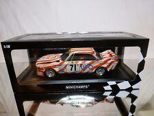 MINICHAMPS 772571 BMW 3.0 CSL - UFO LE MANS 1977 - WHITE 1:18 - EXCELLENT IN BOX
