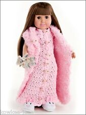 "Dress up fashions for 18"" doll CLOTHES PATTERNS ACCESSORIES to CROCHET -see pics"