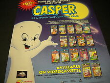 CASPER at a SPOOKTACULAR low price 1995 PROMO DISPLAY AD in mint condition