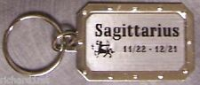 Nickel metal key ring Zodiac Sign Sagittarius the Centaur NEW