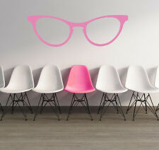 Glasses Wall Decal, Retro Glasses Wall Decal, Cat Eye Glasses, Optometrist Decor