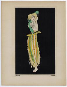 Vintage Pochoir Fine Art Folio Print 1920s Walter Schnackenberg Maria Hagen