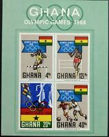 128.GHANA 1968 IMPERF STAMP SPRTS, OLYMPIC GAMES, FOOTBALL, BOXING, FLAGS . MNH