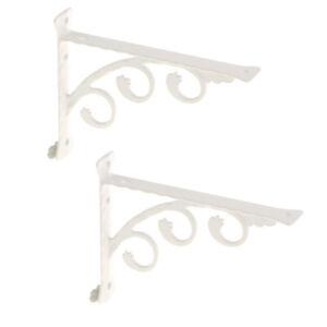 L Shape Wall Mounted Shelf Bracket Hanging Shelve Holder White 15x20cm 2-Set
