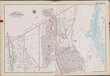 1911 WESTCHESTER YONKERS CITY HOSPITAL SAEGKILL GOLF COURSE NY COPY ATLAS MAP
