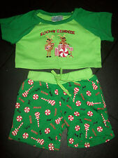 Build a bear Christmas outfit Reindeer Green ROCKIN REINDEER
