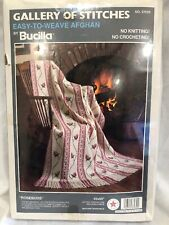 Bucilla Gallery of Stitches Easy to Weave Rosebuds Afghan Kit No. 37039 SEALED ^
