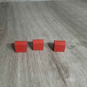 Deluxe Monopoly Game WOODEN Parts - Hotels (3)
