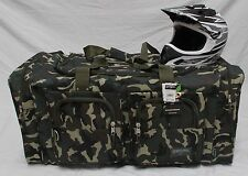 XL MOTORCYCLE GEAR BAG  MOTO CROSS ATV OFF ROAD SNOWMOBILE GREEN CAMO