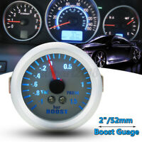 2'' 52MM PRESSIONE TURBO MANOMETRO STRUMENTO -1+1.5 BAR BLUE LED DIGITALE