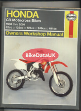 Honda CR 500 CR 250 CR 125 CR 80 R RB (86-01) Haynes Manual Repair Book CZ09
