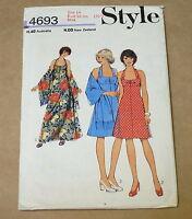 "VINTAGE STYLE WOMENS DRESS PATTERN 1970s BUST 36"" 4693"