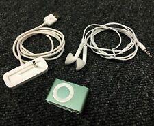 🇺 🇸 Apple iPod Shuffle 2. generación turquesa verde 1gb, estación de carga Sport clip Gym