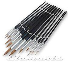 Marksman 12pc Artist Brush Set Plastic Handles Hobby/Crafts