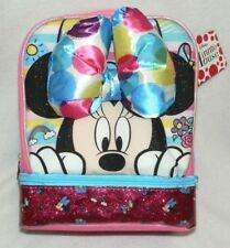 Disney Minnie Mouse With Bow Dual Compartment Insulated Pink Lunch Bag Kit