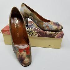 Women's vintage 70s high heels floral size 5.5 Mr. Seymour brand bouquet print