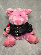 Lip Stick On A PIG - BLACK LEATHER JACKET Motorcycle BIKER PLUSH - Dan Dee Pig