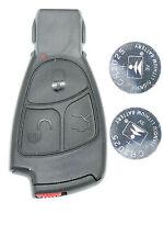Fits Mercedes C E S ML CLK CLS etc.. 3 Button Remote key FOB refurbish kit