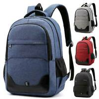 Men Women Canvas Backpack Rucksack Work Travel Hiking College Sports School Bag