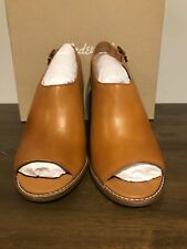 Madewell The Cary Sandal Heeled Amber Brown Size 9.5 Style # G1979