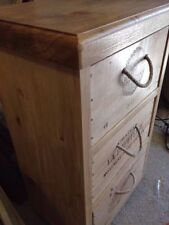 Oak Vintage/Retro Height 3 Chests of Drawers