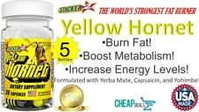 5 Yellow Hornets Weight loss Energy Supplement 100ct 20ct x 5 Bottles Exp08/2022