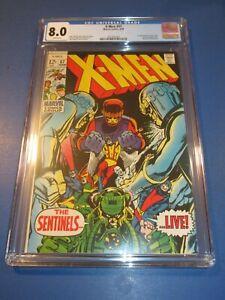 X-men #57 Silver age Neal Adams 1st Trask Key CGC 8.0 VF Beauty Sentinels Wow