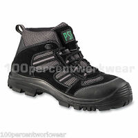 PSF 985NMP Black Grey Lightweight Safety Work Boots Toe Cap Sole Metal Free S1